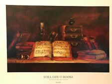 Fine Art Print – Sill Life with Books by Szabo