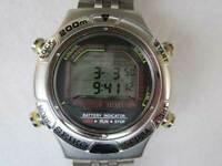 Seiko S800-0020 Diver Scuba Quartz Authentic Mens Watch Works