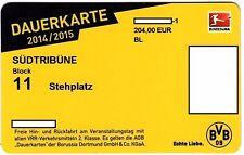 Dauerkarte BVB Borussia Dortmund Saison 2014/2015 für Sammler