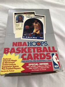 1989-90 NBA Hoops Basketball Box 36 Packs 15 Cards Per Pack