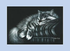 Gato atigrado imprimir mi lugar por I garmashova