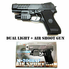 AIR SPORTS LASER GUN RED LASER & BLUE LIGHT PISTOL WITH BULLET TOY