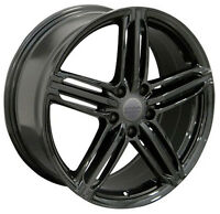 18x8.0 5x112 +45 Wheels Black 18 Inch Rims for Audi VW Jetta GTI CC Passat EOS