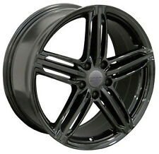 18x8.0 5x112 +45 Wheels Black 18 Inch Rims for Audi VW Jetta GTI CC Passat EOS