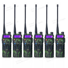 6 Pcs BaoFeng Uv-5R Dual Uhf/Vhf Radio Transceiver + 3800mah Battery Ru Stock