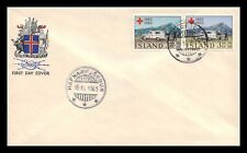 Iceland 1963 FDC, Centenary of the Red Cross. Lot # 3.