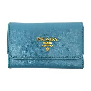 Prada Key Case  Light Blue Leather 2302993