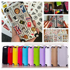 Suitcase Luggage Style Candy DIY Case Cover For iPhone 6 6 Plus Free Stickers