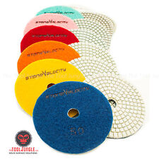 5 inch Diamond Polishing pad Wet/Dry Granite Marble Stone Quartz Concrete