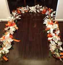 Brides Wedding Arch - Custom Made Your Colors - Orange & White