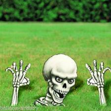 Halloween enterrada viva interruptor de tierra 3 PCE Esqueleto Utilería Decoración de jardín césped