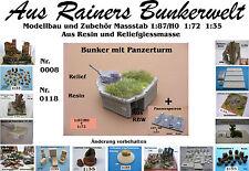 Für Diorama Nr.118 Bunker mit Panzerturm 1:72 Resin
