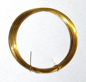 (0,33 €/m ) Messingdraht Ø 0,8 mm, Länge 6 m