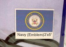 US United States Navy Emblem Flag 3' x 5' ft. New Sealed