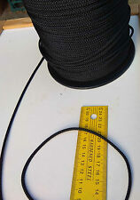 15m X 3mm BLACK DOUBLE BRAID WITH DYNEEMA® CORE YACHT & MARINE ROPE T:480kg -NEW