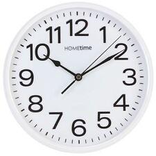 HomeTime Classic Silent Sweep Wall Clock 25cm White W7588W