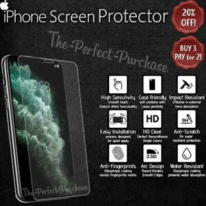 iPhone Waterproof Tempered Glass Clear Screen Protector For Apple iPhone Models!