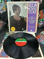ELLA FITZGERALD VINYL ella loves cole LP 1st Press PROMO COPY Nelson Riddle 1972