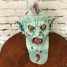 Gnarly Vampire Full Rubber Mask Gory Detailed Mohawk Demon Scary Horror Cosplay