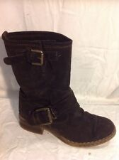 Jones Boot Maker Brown Ankle Suede Boots Size 37