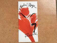 Ancien MENU cabaret MOULIN ROUGE PARIS Revue Féerie 1999 couverture René GRUAU