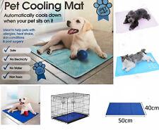 Pet Dog Cat Cool Mat Self Cooling Gel Mat Pad Bed Mattress Summer Heat Relief