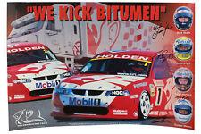 Signed HRT We Kick Bitumen Poster Skaife Bright Longhurst Mezera Holden VX