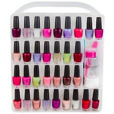Nail polish storage organizer holder case 64 bottles FREE polish remover bottle