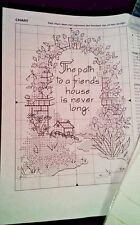 The Path to a Friend's House is never long. Floral Cottage X Stitch kit 5 X 7 in