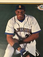 1989 MLB ROOKIE YEAR KEN GRIFFEY JR. AUTOGRAPH POSTER ** POSTER NIGHT!  KINGDOME