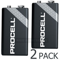2 X DURACELL PROCELL 9V PP3 BLOCK ALKALINE BATTERIES MN1604 REPLACES INDUSTRIAL