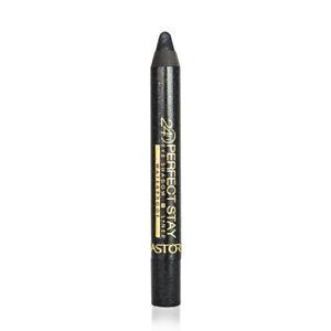 ASTOR PERFECT STAY W/PROOF 730 GLITTER BLACK SHADOW & LINER x 2 & FREE TWEEZER