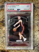 2019-20 PANINI PRIZM TYLER HERRO TRUE ROOKIE RC BASE PSA 9 MINT #259 HEAT!