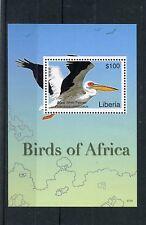 Liberia 2007 MNH Birds of Africa I 1v S/S Great White Pelican