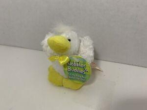 "Dan Dee small mini 3.5"" Wobbler Buddies plush duck duckling shaking vibrating"