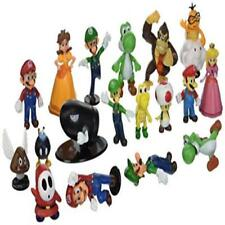 "Bigoct Super Mario Brothers Action Figures Set (18 Piece) 2"" Toy Play Kids Game"