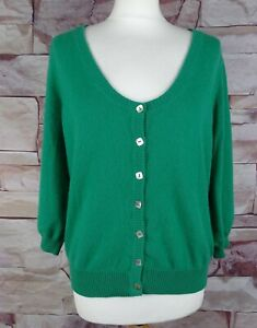 MARKS AND SPENCER Limited Collection green cardigan 100% cashmere size 18