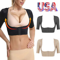 US Women Fajas Arm Slimming Shapewear Top Body Shaper Back Posture Corrector New