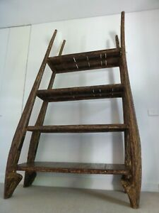 RUSTIC RECYCLED TEAK CHUNKY SHELVING UNIT DISPLAY ONE OF A KIND PICK UP ONLY