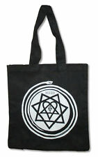 HIM H.I.M Heartagram Snake Black Canvas Gusseted Tote Bag New Official Merch