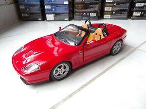 Ferrari 550 Barchetta Spider Red 1/18 Hotwheels Mattel Miniature
