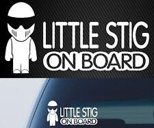 LITTLE STIG Funny BABY ON BOARD stig Car Vehicle Decal Window Warning Sticker