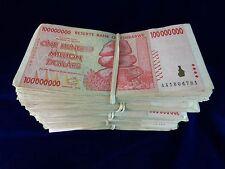Zimbabwe 100 Million Dollar Note CIRCULATED 5 Bundles=500 Notes AA 2008 Series
