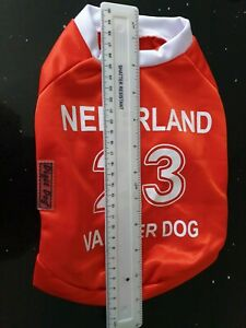 Dog Football Shirt - NEDERLAND - 23 VAN DER DOG Sz Small 28cm