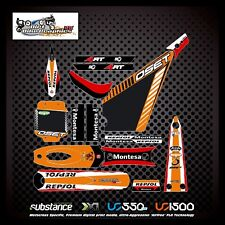 Oset 20 Repsol Montesa kit de Orange Decal Sticker ensayos clínicos (751)