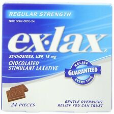 Ex-Lax Chocolated Stimulant Laxative Pieces Regular Strength 24-Count