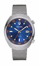 Bulova Accutron II 96B232 Men's Lobster Mesh Band Blue Dial Analog UHF Watch