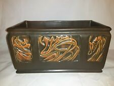 Roseville pottery Rosecraft panel Window Box 11 1/4 inches long