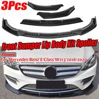 Carbon Fiber Look Spoilerlippe Spoiler Splitter Schwert für Mercedes W213 16-20