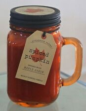 DW HOME INC SPICED PUMPKIN MAPLE SYRUP NEW CANDLE GLASS BALL JAR HANDLE 1 WICK S